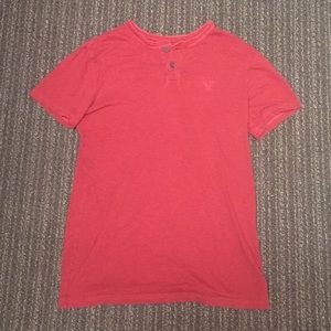 AMERICAN EAGLE OUTFITTERS Athletic Fit T Shirt Red